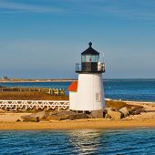 Brant Point Light Lighthouse, Nantucket Harbor, Nantucket, Massachusetts, USA