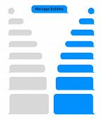 Message Bubble Chat For Text, Sms. Chat Messenger At Bubble Form In Flat Style. Blank Message For Te poster