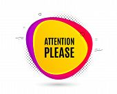 Attention Please. Banner Text Shape. Special Offer Sign. Important Information Symbol. Geometric Vec poster