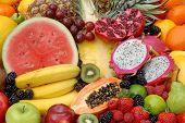 Постер, плакат: Тропические фрукты