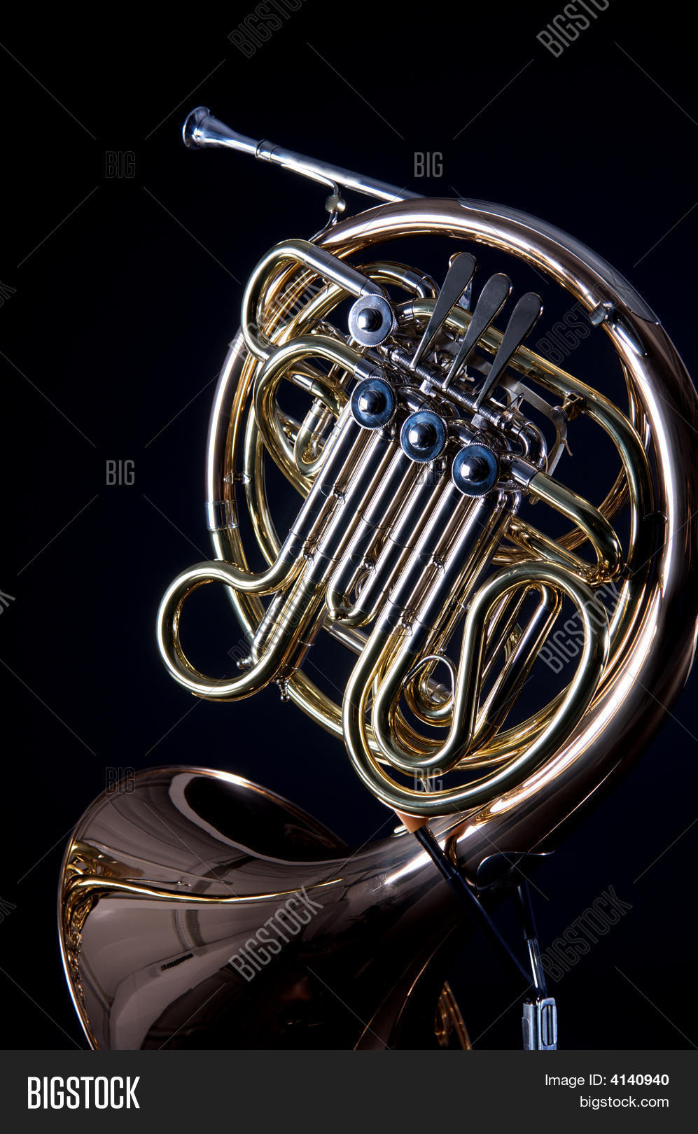 French Horn On Black Image & Photo | Bigstock