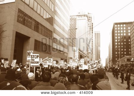 Muslim Protest And Protestors With Picket Signs 5