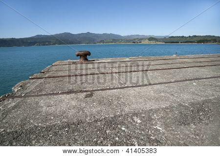Bollard On End Of Disused Wharf