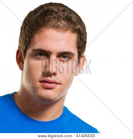 Close-up Of Young Man Isolated On White Background