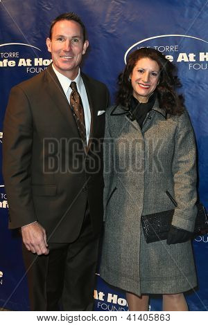 NEW YORK-JAN 24: Former MLB player John Flaherty and wife Allyn attend the 10th Anniversary Joe Torre Safe At Home Foundation Gala at Pier 60, Chelsea Piers on January 24, 2013 in New York City.