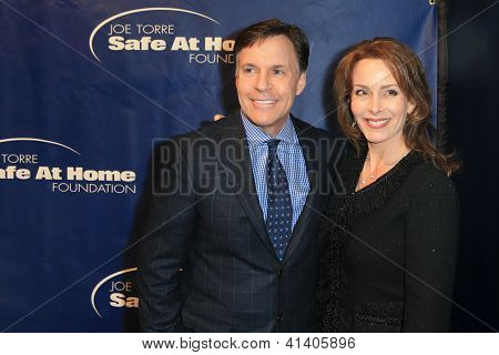 NEW YORK-JAN 24: Bob and Jill Costas attend the 10th Anniversary Joe Torre Safe At Home Foundation Gala at Pier 60, Chelsea Piers on January 24, 2013 in New York City.