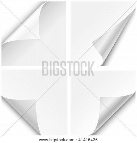 Dobras de canto de papel