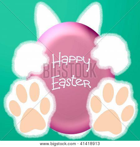 Easter bunny hello