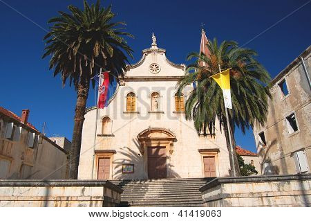 Church in Milna on Brac island, Croatia