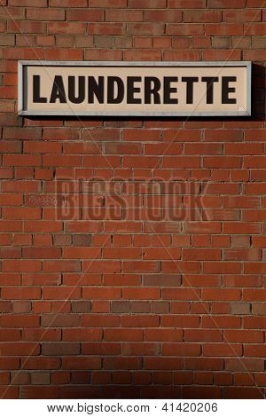 Launderette Sign.