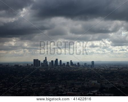 Los Angeles in a Stormy Day