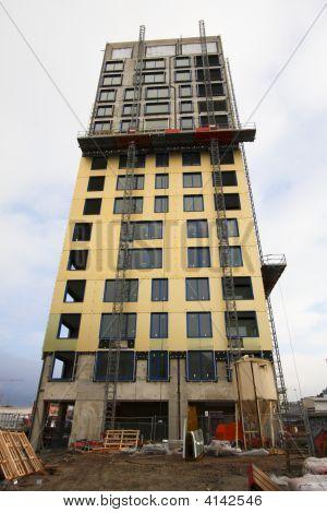 Construction Site In Antwerp, Belgium