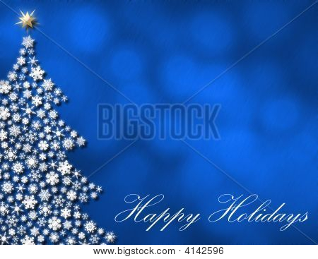 Happy Holidays Winter Background
