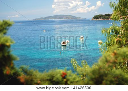 Summer landscape of Dalmatian coast, Croatia