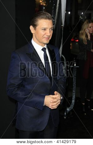 LOS ANGELES - JAN 24:  Jeremy Renner arrives at the the 'Hansel And Gretel: Witch Hunters' premiere at the Chinese Theat theer on January 24, 2013 in Los Angeles, CA