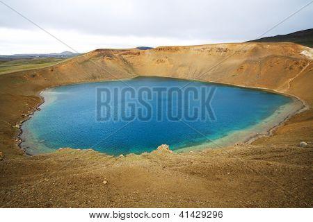 Krafla Volcanic Area, Viti Crater, Iceland