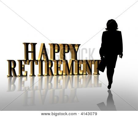 Happy Ruhestand Frau Grafik
