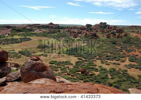Devil Marbles Stone Formation Outback Australia