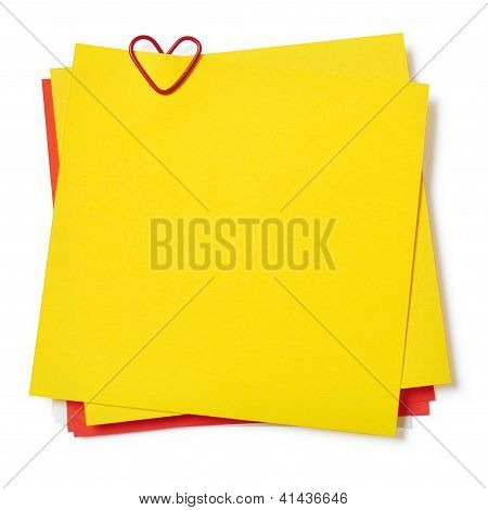 Yellow And Red Sticky Notes