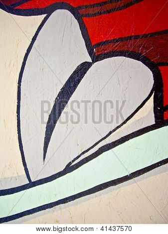 Heart or Lips On A Wall
