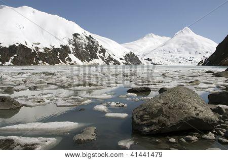 Stones And Glacial Ice, Alaska