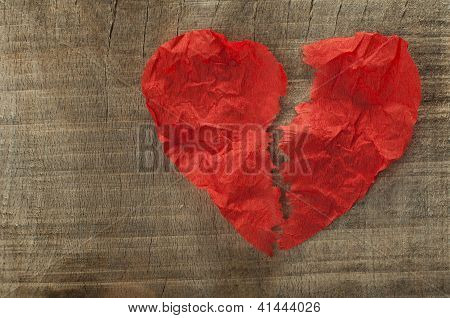 Heartbreak Made ??of Curled Red Paper