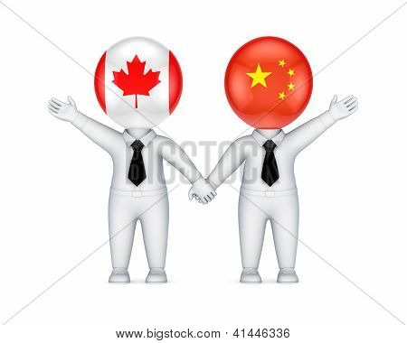 Canadian-chinese parthnership concept.