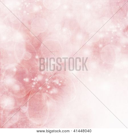 Textile Texture With Pink, Soft Spring Blossoms And Bokeh