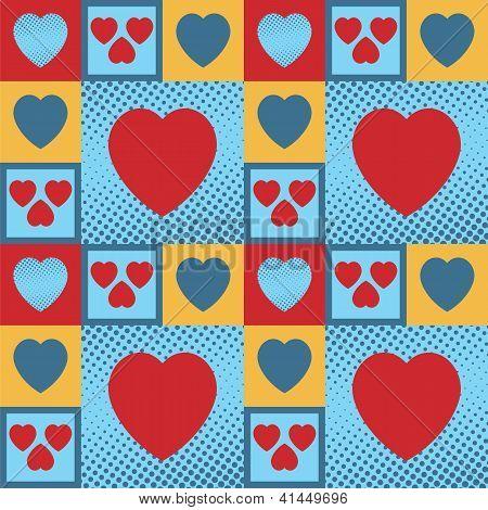 Padrão de corações