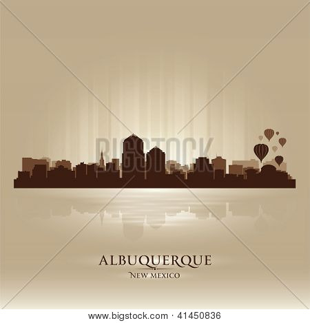 Albuquerque, New Mexico Skyline City Silhouette