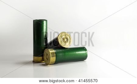 Shotgun Shells on White