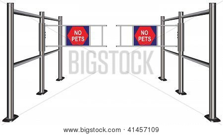 Turnstile Prohibiting Pets