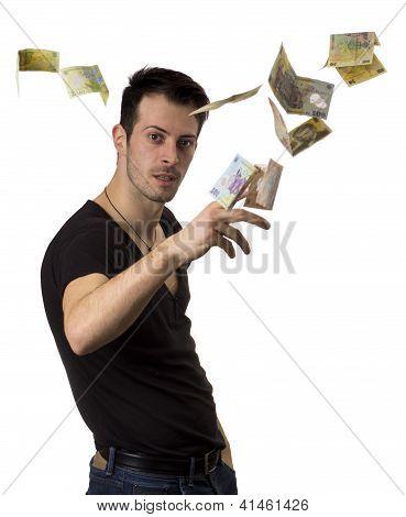 Man Throws Money