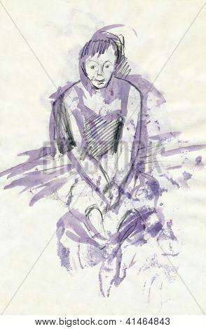 ballet, sketch art