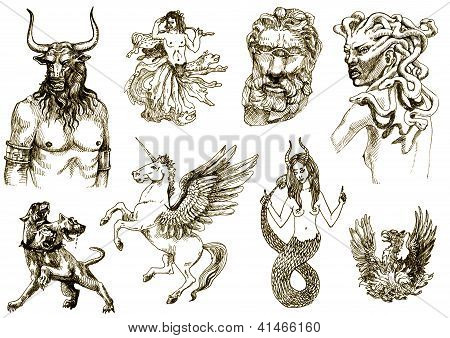 mythical monsters and animals