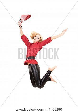 Mujer salta