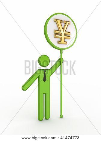 Bunner with a yen symbol.