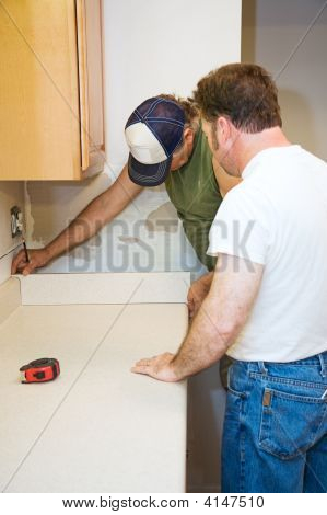 Contractors And Kitchen Counter