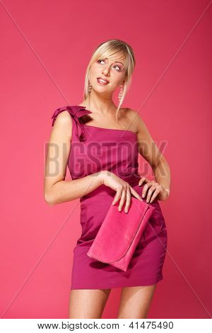 Blond Girl In Pink