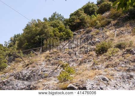 Mountain Slope With A Path
