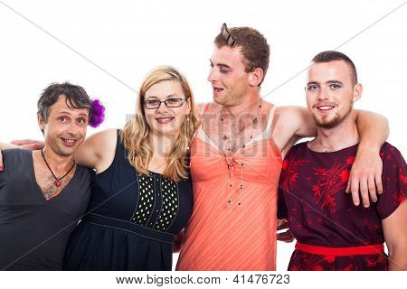 Cross-dressing Men And Woman
