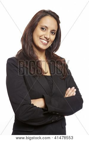 Young Asian Adult Business Woman Smiling