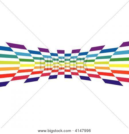 Rainbow Checkered Wall
