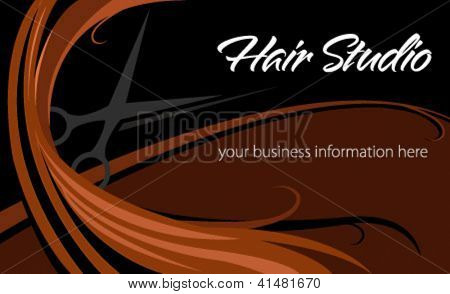 Hair studio abstract card