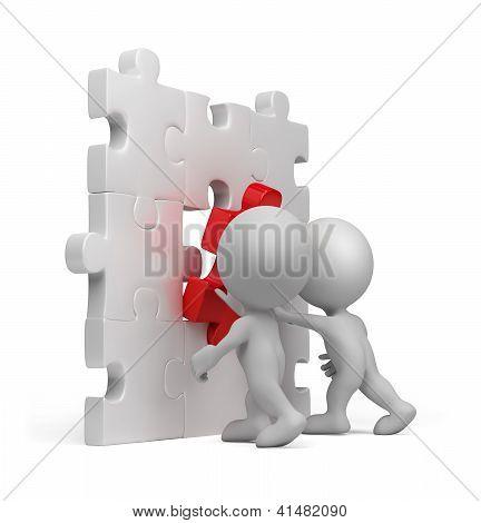 3D Person - Puzzle Insert