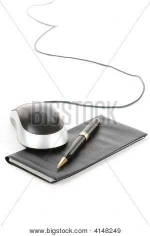 Checkbook And Computer Mouse
