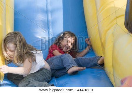 Two Beautiful Little Girls Having Fun