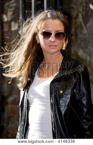 Young Beautiful Girl In Sun Glasses