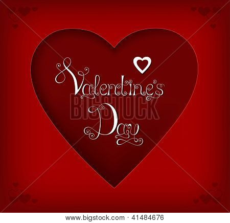 Vector illustration of Valentine's day paper card. Eps10