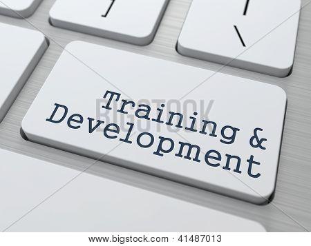 Training & Development - Button on Keyboard.